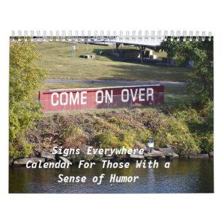 Zeichen überall, Kalender