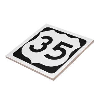 Zeichen US-Weg-35 Keramikfliese