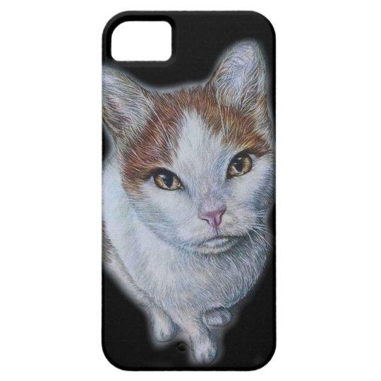 Zeichnen von Katzen-Weiß und Orange Etui Fürs iPhone 5