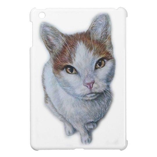 Zeichnen von Katzen-Weiß und Orange iPad Mini Hülle
