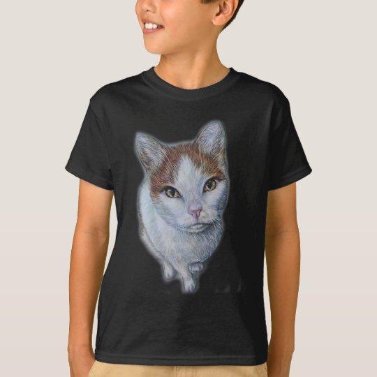 Zeichnen von Katzen-Weiß und Orange T-Shirt
