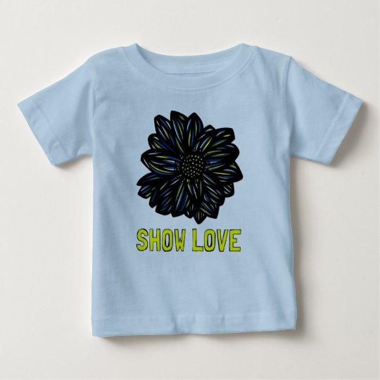 """""""Zeigen Sie Liebe-"""" Baby-T - Shirt"""