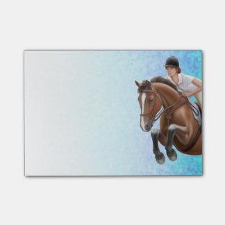 Zeigen Sie springendem Pferd Post-it Klebezettel