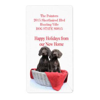 Zeiger-Schwester-neues Adressen-Weihnachten Versandetikett