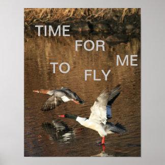 Zeit, damit ich Plakat fliege