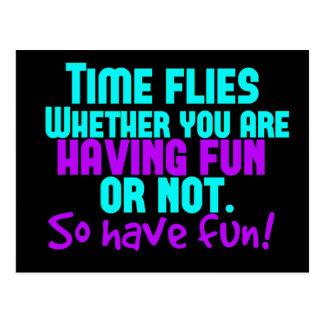 Zeit fliegt - haben Sie Spaß! Postkarte