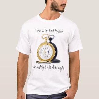 Zeit ist die beste lustige Lehrer-Taschen-Uhr T-Shirt