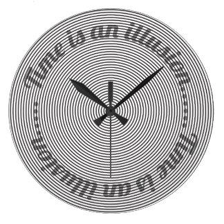 Zeit ist eine Illusion Große Wanduhr