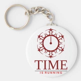 Zeit läuft schlüsselanhänger