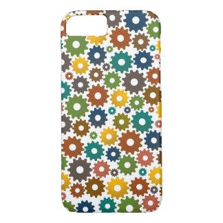 Zeit-Maschinen-Muster in den Farben iPhone 8/7 Hülle
