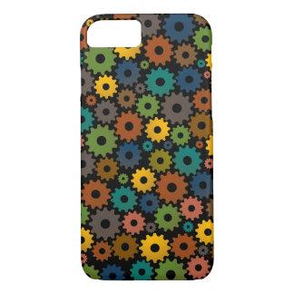 Zeit-Maschinen-Muster in den Farben mit backfround iPhone 8/7 Hülle