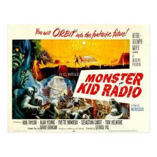 Zeit-Reise-Postkarte vom Monster-Kinderradio Postkarte