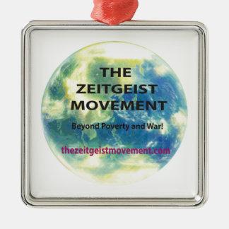 Zeitgeist-Bewegung Silbernes Ornament