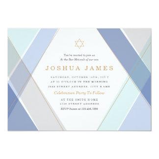 Zeitgenosse Stripes Bar Mitzvah 12,7 X 17,8 Cm Einladungskarte