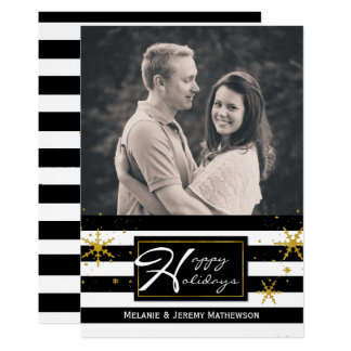 Zeitgenosse Stripes Foto-Feiertags-Gruß-Karte 12,7 X 17,8 Cm Einladungskarte