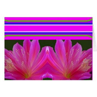 Zeitgenössische Kaktus-Blumen-Karte durch Sharles Karte