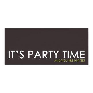 Zeitgenössische Party-Zeit-Geburtstags-Einladungen 10,2 X 23,5 Cm Einladungskarte
