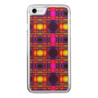 Zeitgenössische psychedelische rosa Karos Carved iPhone 8/7 Hülle