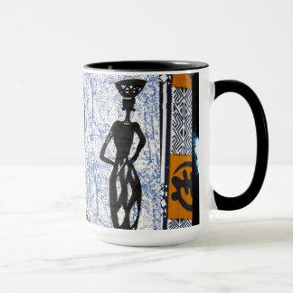 Zeitgenössischer abstrakter afrikanischer Entwurf Tasse