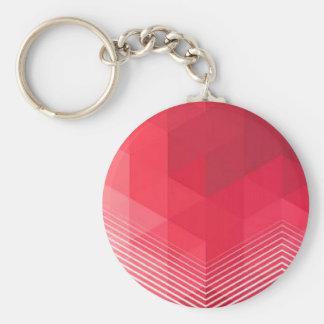 Zeitgenössischer roter Geometrie-Entwurf Schlüsselanhänger