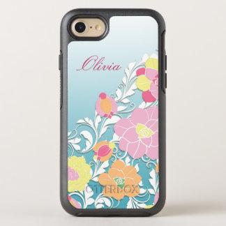 Zeitgenössisches gemeißeltes Blumen OtterBox Symmetry iPhone 8/7 Hülle