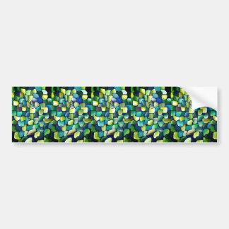 Zeitgenössisches grünes Muster Autoaufkleber