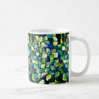 Zeitgenössisches grünes Muster Tasse