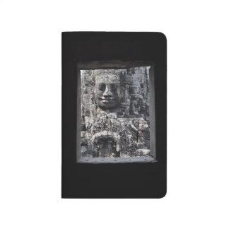 Zeitschrift mit Angkor Thom durch ein Fenster-Foto Taschennotizbuch