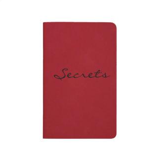 Zeitschrift von Geheimnissen Taschennotizbuch
