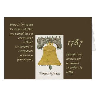 Zeitungen u. Regierung Thomas Jefferson Karte