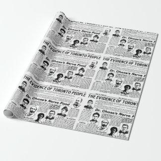 Zeitungs-Geschenkpapier Toronto-Leute Vintages Geschenkpapier
