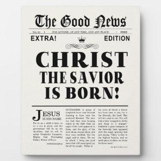 Zeitungs-Schlagzeilen-Weihnachten Fotoplatte