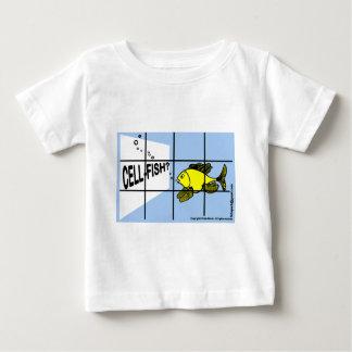 Zelle-Fische der unglaublich witzig egoistischer Baby T-shirt