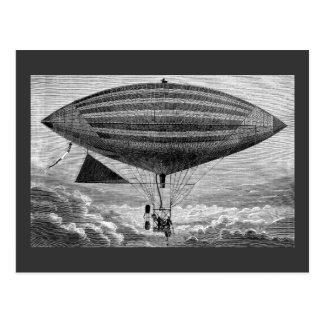 Zellen-Luftschiff-lenkbar-Vintage Fliegen-Maschine Postkarte