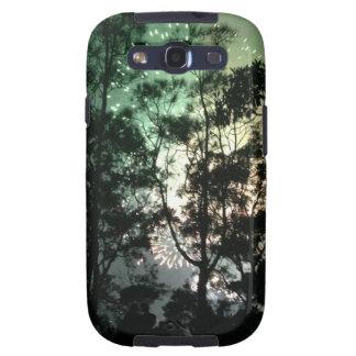 Zellentelefonkasten - Baum-Silhouettefeuerwerke Samsung Galaxy S3 Etuis