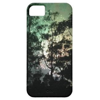 Zellentelefonkasten - Baum-Silhouettefeuerwerke Etui Fürs iPhone 5