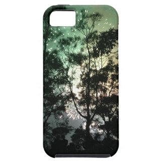 Zellentelefonkasten - Baum-Silhouettefeuerwerke iPhone 5 Hüllen