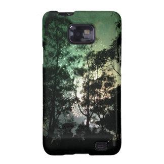 Zellentelefonkasten - Baum-Silhouettefeuerwerke Samsung Galaxy SII Cover
