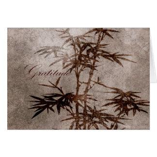 Zen-Bambus-Dankbarkeit Karte