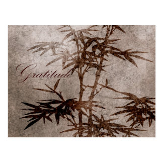 Zen-Bambus-Dankbarkeit Postkarten