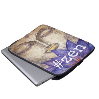 Zen-Buddha-Aquarell-Kunst-Laptop-Hülse Laptopschutzhülle