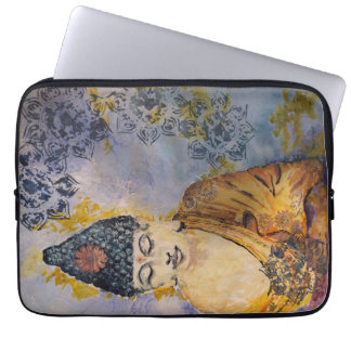 Zen-Buddha-Aquarell-Laptop-Hülse Laptopschutzhülle