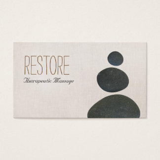 Zen entsteint Massage-Therapeuten u. Visitenkarte