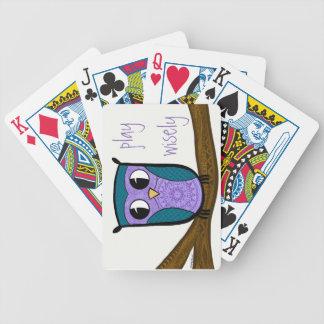 Zen-Eulenspiel klug Bicycle Spielkarten
