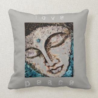 Zen-Friedensbuddha-Aquarell-Kunst-Kissen 20x20 Kissen