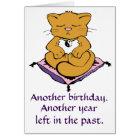 Zen Kitty Cat Meditation Yoga Birthday Card Karte
