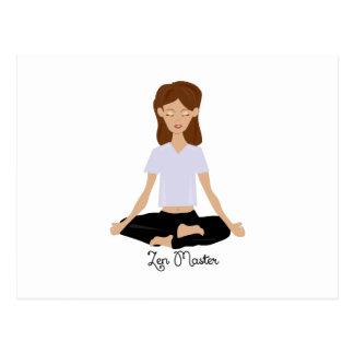 Zen-Meister Postkarte
