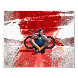 Zen radfahrenfikeshot fotodruck
