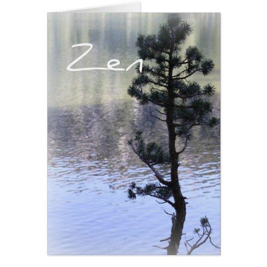 Zen-Reflexions-Wasser und Baum-Karte Grußkarte