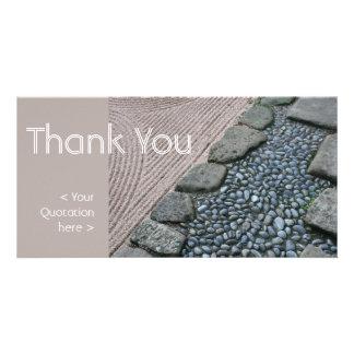 Zen und abstraktes danken Ihnen Foto-Karte Bilderkarten